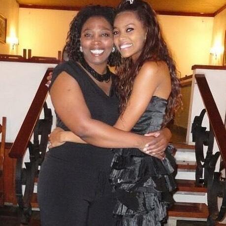 Cristiane Berenice com a mãe