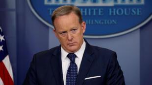 Sean Spicer, porta-voz da Casa Branca, pediu demissão nesta sexta-feira (21) em Washington.