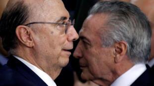 """""""A dupla que quer salvar o Brasil"""" é o título da chamada de capa do diário econômico Les Echos."""