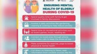 India's mental health advisory notice during Covid-19 lockdown