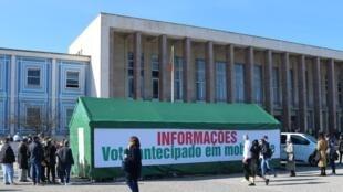 Presidenciais Tenda de informações junto da Reitoria da Universidade de Lisboa