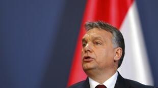 Le Premier ministre hongrois Viktor Orban en février 2015.