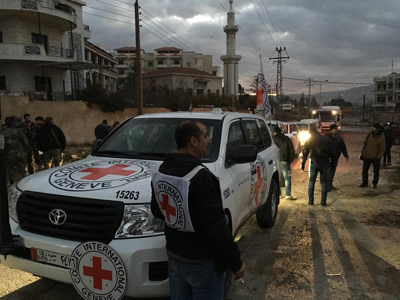 Ajuda humanitária foi levada a Madaya em 12 de janeiro de 2016.