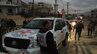 Les convois humanitaires dans la ville de Madaya, le 12 janvier 2016.