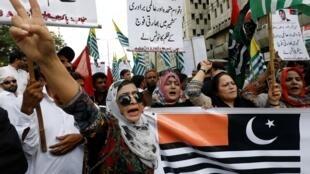 Biểu tình tại Karachi, Pakistan, ủng hộ người dân Cachemire, ngày 06/08/2019.