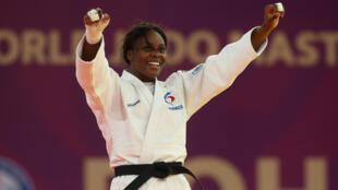 Madeleine Malonga (-78 kg) victorieuse de la Japonaise Shori Hamada, N.2 mondiale, par waza-ari, au Masters de Doha, le 13 janvier 2021