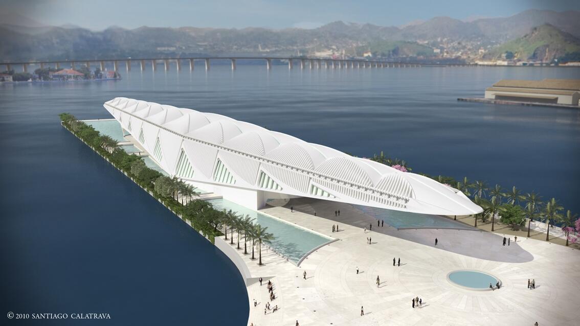 """O Museu do Amanhã, do arquiteto Santiago Calatrava, vai co-produzir com a França o """"Habitat do Futuro""""."""