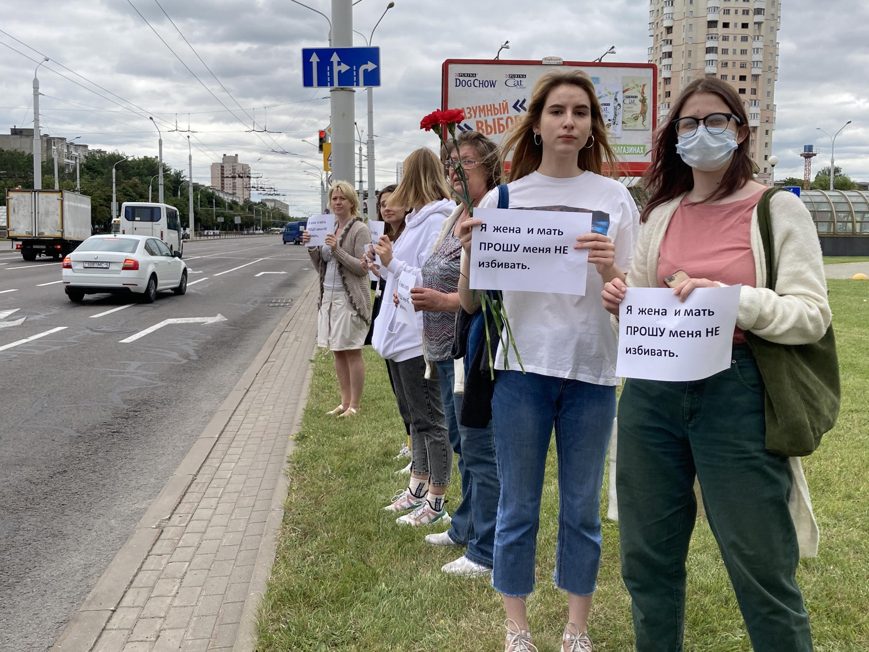 Еще одна акция солидарности женщин с задержанными, пострадавшими от действий силовиков.