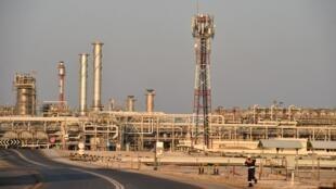 Une vue des champs de pétrole d'Abqaiq appartenant à la société Aramco en Arabie saoudite.