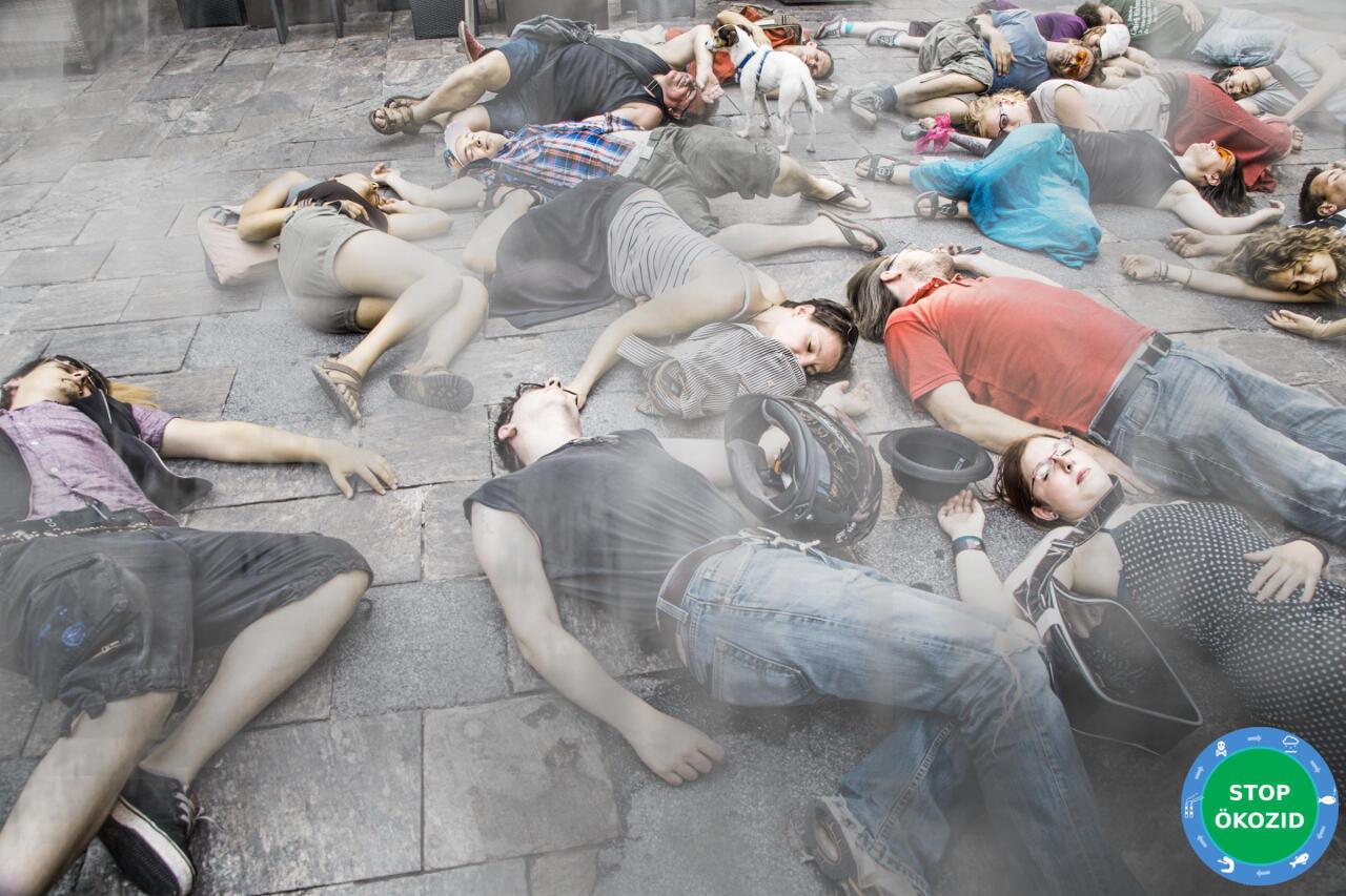 """Imagem da campanha internacional do movimento """"End Ecocide on Earth"""", para erradicar os crimes de destruição do planeta"""