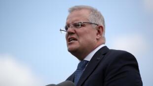Le Premier ministre australien Scott Morrison lors d'une conférence de presse le 28 février 2020 à Sydney.
