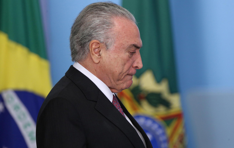 Le président brésilien Michel Temer au palais présidentiel du Planalto, le 27 juillet 2017.