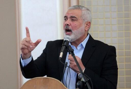 Ismaïl Haniyeh, jagora a gwagwarmayar Hamas.