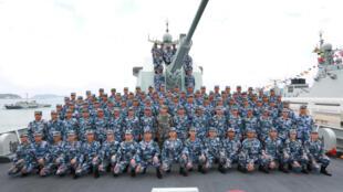 Trung Quốc tập trận rầm rộ tại Biển Đông. Ảnh chụp ngày 12/04/2018.