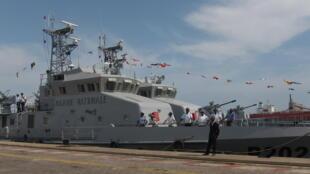 Deux des quatre patrouilleurs d'origine chinoise en service dans la marine congolaise.