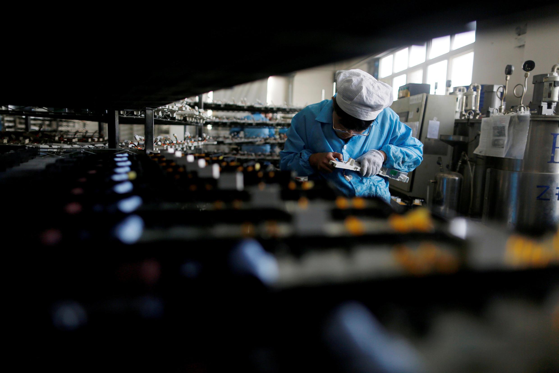 Một nhà máy điện tử ở Thanh Đảo. Ảnh chụp ngày 29/01/2018.