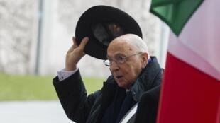 Le président italien, Giorgio Napolitano, à Berlin, le 28 février 2013.
