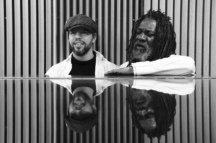 Winston McAnuff and Fixi during a recording session