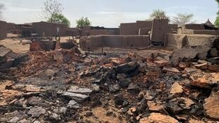 Le village de Sobane dans le centre du Mali, le 11 juin 2019: des images de destruction et de désolation.