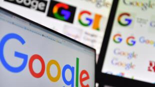 Logos de Google en una pantalla
