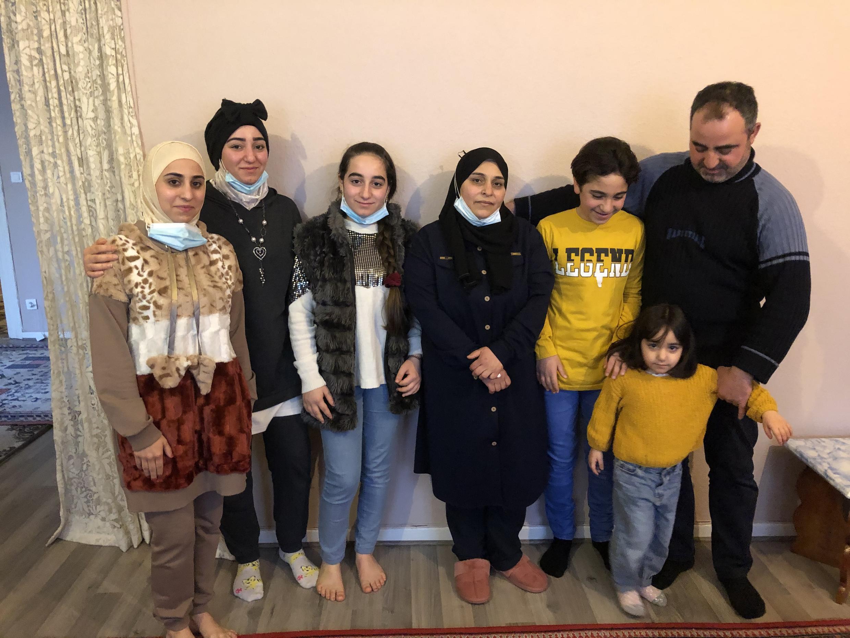 Famille syrienne en France