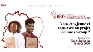 Page d'accueil du site de la Fondation BJKD (Bénédicte Janine Kacou Diagou).