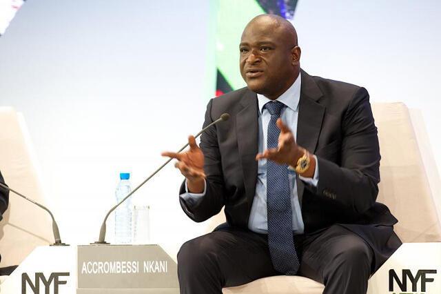 Maixent Accrombessi, o director do gabinete de Ali Bongo.