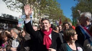 Left Front leader Jean-Luc Mélenchon in Paris on 30 September
