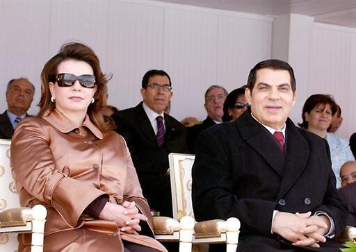 Ben Ali e sua esposa Leila, em março de 2006.
