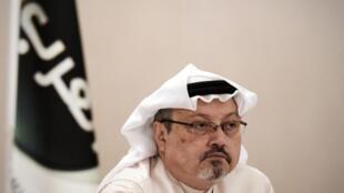 """美国总统特朗普回答记者提问:沙特记者卡舒吉""""确定已死了      2018年10月18日"""