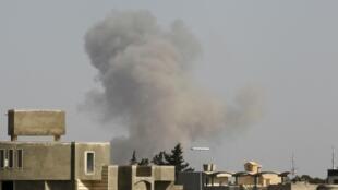Four blasts were heard in the Libyan capital