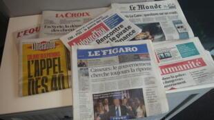 Primeiras páginas dos jornais franceses de 19 de maio de 2016