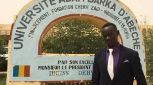 Rahman Mohamed Yebet, Darfuri refugee, law student at Adam Barka University, Abéché, Chad