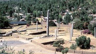 La ville d'Aksoum, en Éthiopie.