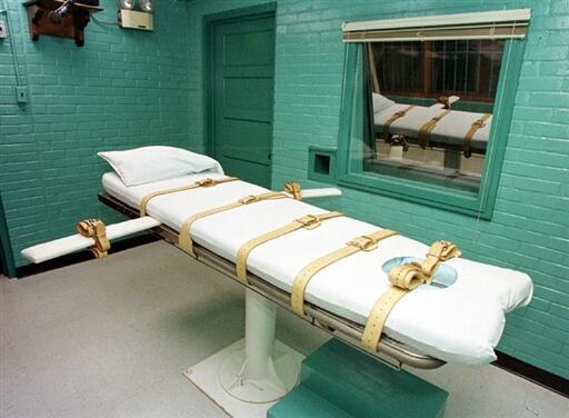 Một phòng thi hành án tử hình bằng tiêm thuốc độc tai Texas, Hoa Kỳ.