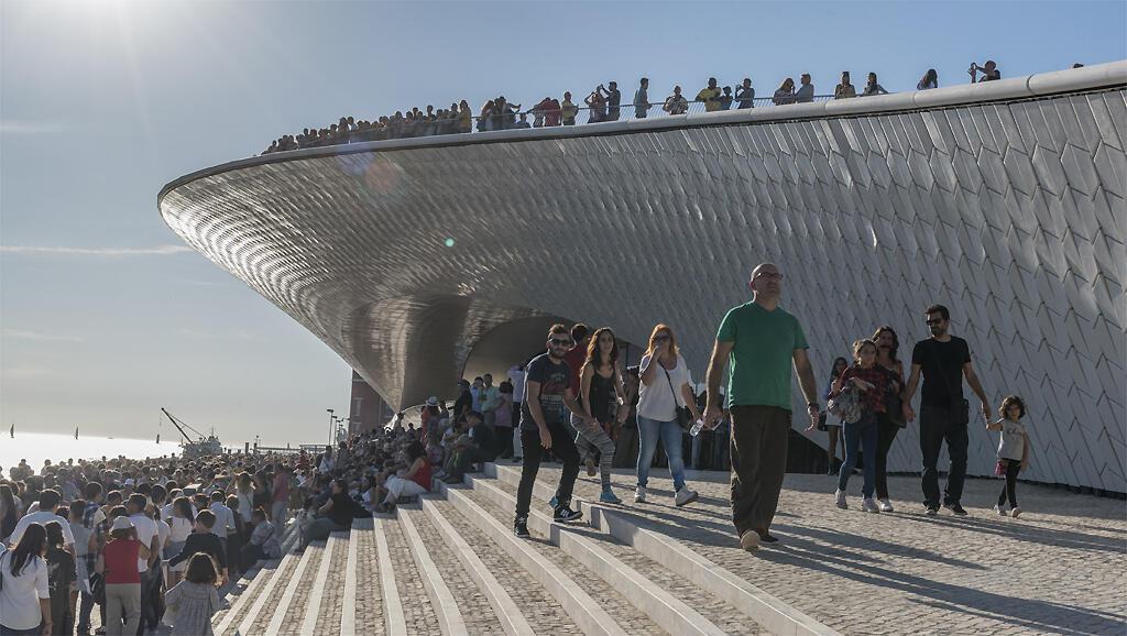 Le MAAT de Lisbonne (Musée d'Art, d'Architecture et de Technologie).