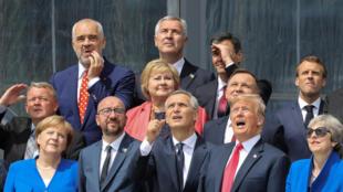 北約峰會開幕式上的各成員國及合作夥伴國高層