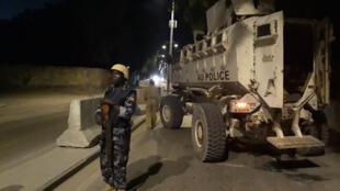 Patrouille de nuit de l'Amisom à Mogadiscio, la capitale somalienne.