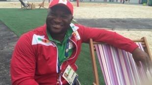 Christian Gobé au village olympique à Rio.
