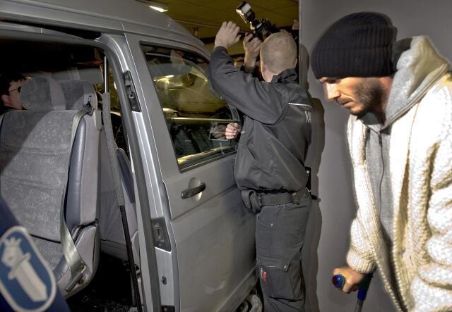 David Beckham teve alta e deixou a Finlândia nesta quarta-feira, 17 de março.