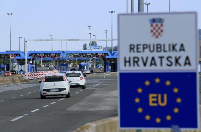 Một chốt biên giới Croatia, thành viên mới Liên Hiệp Châu Âu từ ngày 01/07/2013.