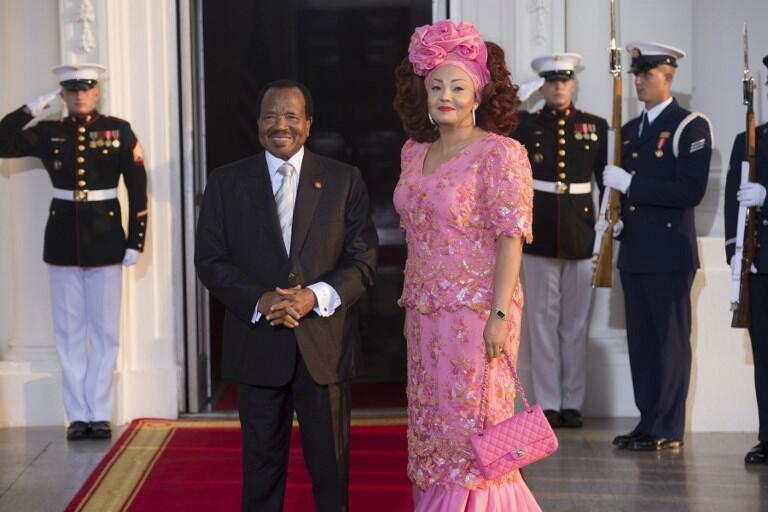 Shugaban Kamaru Paul Biya da uwargidansa, Chantal Biya