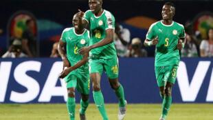 Le Sénégalais Ismaïla Sarr, buteur avec le Sénégal face au Kenya, à la CAN 2019.