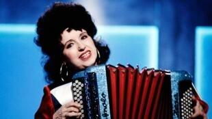 La reine de l'accordéon Yvette Horner, en 1987.