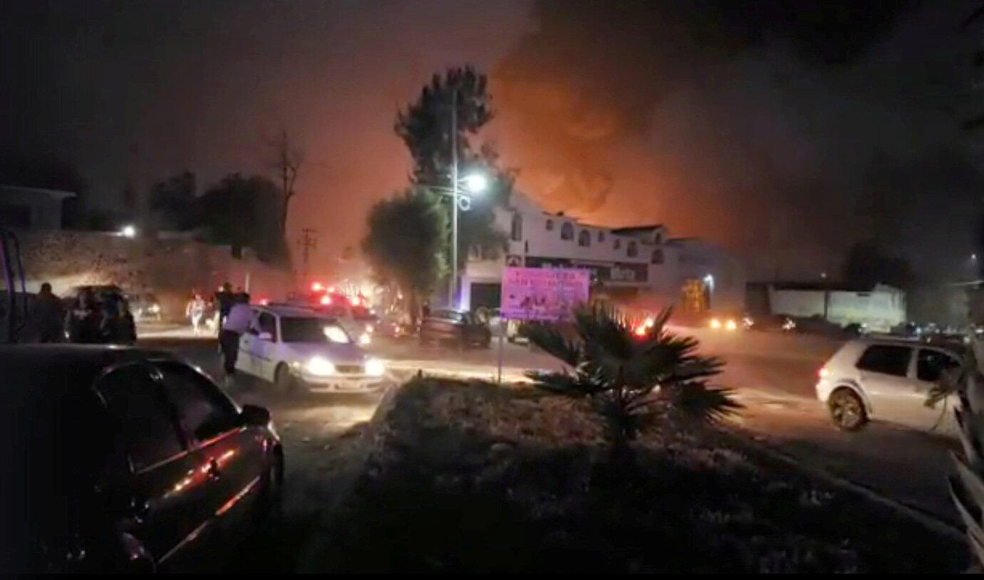 People react at the scene where a ruptured fuel pipeline exploded, in the municipality of Tlahuelilpan, Hidalgo, Mexico, near the Tula refinery of state oil firm Petroleos Mexicanos (Pemex), January 18, 2019