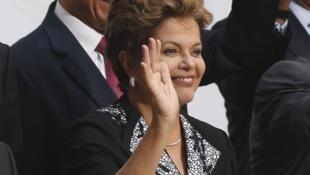 Presidente Dilma Rousseff na cúpula Ibero-americana de Cádiz, no sábado, 17 de novembro de 2012.