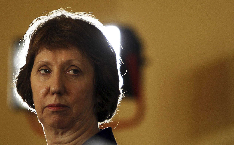 Catherine Ashton se rend une nouvelle fois à Kiev, le mardi 4 février, pour discuter d'une aide financière de Bruxelles à l'Ukraine.
