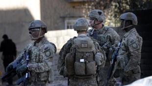 Des soldats américains en périphérie de la ville de Mossoul, en Irak en 2016 (image d'illustration).