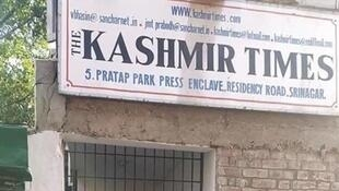 2020-10-21 india press kashmir times office srinagar