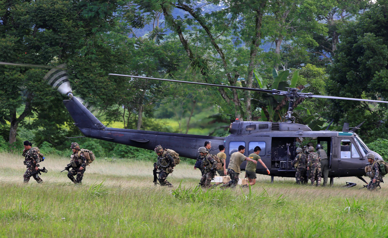 Quân đội Philippes tấn công lực lượng hồi giáo chiếm phần lớn thành phố Marawi. Ảnh ngày 02/06/2017.